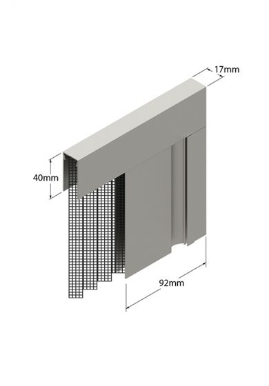 Zanzariera Mini Plisse ad Anta Singola, per larghezza Vano fino a 200 cm, ingombro da 17 mm - 830